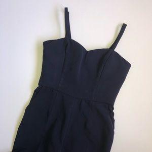 Pants - Romantic Line navy blue jumpsuit